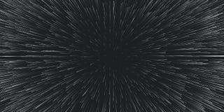 Lightspeed вектором предпосылка перемещения Центральное движение следов звезды Свет галактик запачканных в лучи или линии вниз иллюстрация вектора