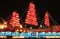 Lightup of lantern ship Stock Photography