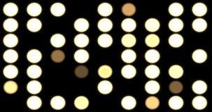 Lightwall med blinkande ljus stock video