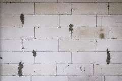 Lightweight concrete brick wall Stock Image