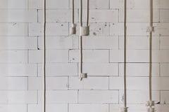 Lightweight concrete brick wall. Wall brick Royalty Free Stock Photo