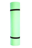 Lightweight foam Yoga Mat roll  on white Royalty Free Stock Images