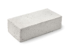 Lightweight foamed gypsum block stock image
