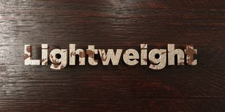 Lightweight - grungy wooden headline on Maple  - 3D rendered royalty free stock image Stock Image