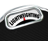 Lightweighting词标度减退大量材料改善 库存图片