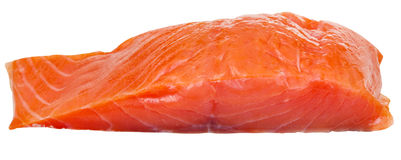 Lighty smoked atlantic salmon red fish fillet Royalty Free Stock Photos