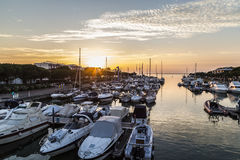 Lignano Sabbiadoro Harbor Stock Photo