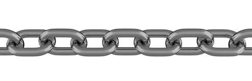 Ligne à chaînes 3D d'isolement en métal Image stock