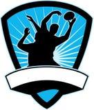 Ligne-à l'extérieur bille de loquet de joueur de rugby illustration libre de droits