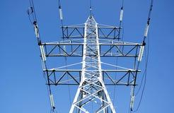 Ligne électrique à haute tension Photographie stock