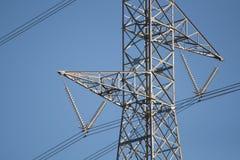 Ligne électrique à haute tension pylône Photo stock