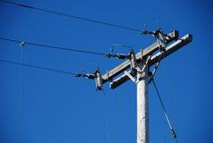 Ligne électrique âgée Photographie stock libre de droits