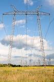 Ligne électrique électrique Photo libre de droits