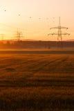 Ligne électrique électrique Photos libres de droits