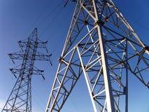 Ligne électrique électrique Image libre de droits