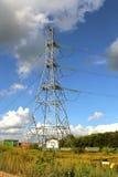 Ligne électrique électrique de mât Images libres de droits