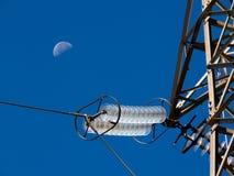 ligne électrique électrique m d'isolant Photographie stock