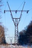 Ligne électrique électrique images libres de droits