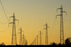 Ligne électrique Images stock