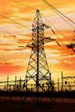 Ligne électrique Photos libres de droits