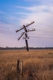 Ligne électrique abandonnée Photos stock