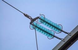 Ligne électrique d'isolant électrique à haute tension Photos libres de droits