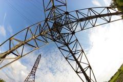 Ligne électrique dans un contryside Photo stock