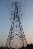 Ligne électrique de l'électricité Photographie stock