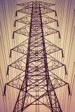 Ligne électrique de l'électricité Images stock
