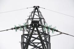 Ligne électrique de puissance photos stock