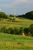 Ligne électrique et nature Images libres de droits