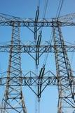 Ligne électrique et tour électriques Photos libres de droits