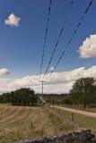 Ligne électrique Pôle Photos libres de droits