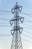 Ligne électrique : un pylône Images libres de droits