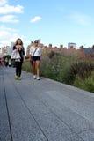Ligne élevée.  New York City. Parc piétonnier élevé Image libre de droits