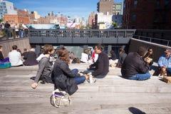 Ligne élevée stationnement NYC Photographie stock libre de droits