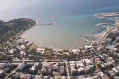 Ligne 01 de côte d'Athènes Photographie stock