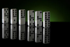 Ligne 2 de domino photos libres de droits