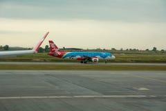 Ligne aérienne d'Air Asia d'avions Photos libres de droits