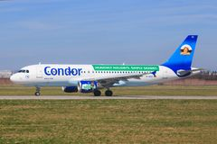 Ligne aérienne de condor Image stock