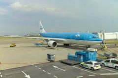 Ligne aérienne de KLM aux Pays-Bas Image libre de droits