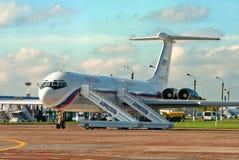 Ligne aérienne Russie d'IL-62M Images stock