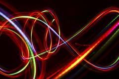 Ligne abstraite brouillée de lumière de LED Photo libre de droits