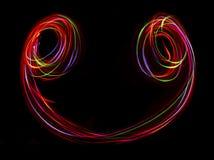 Ligne abstraite brouillée de lumière de LED Photographie stock libre de droits