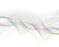 Ligne abstraite d'onde d'arc-en-ciel Photos libres de droits