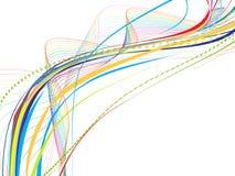 Ligne abstraite d'onde d'arc-en-ciel Image libre de droits