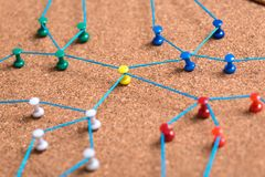 Ligne abstraite de Web connexion de noeud au noeud sur le backgro blanc photographie stock libre de droits