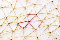 Ligne abstraite de Web connexion de noeud au noeud sur le backgro blanc photographie stock