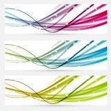 Ligne abstraite en-têtes lumineux de bannières de Web Photographie stock