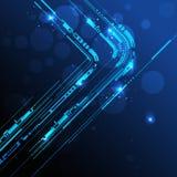 Ligne abstraite fond de technologie Images libres de droits